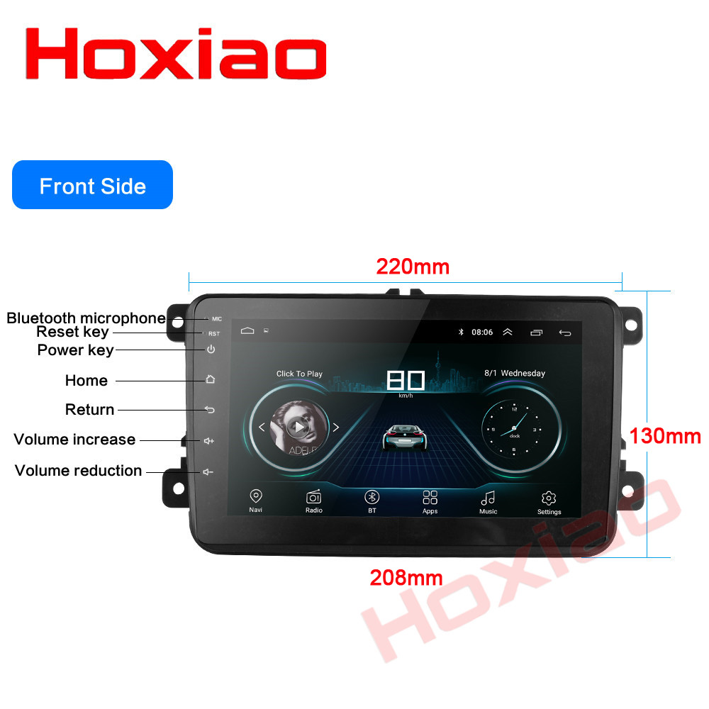 US $127 16 32% OFF|for  VW/Golf/Passat/POLO/Tiguan/Skoda/Fabia/Rapid/Seat/Leon Autoradio 8 inch Car  Android radio gps stereo 2 din car dvd player -in