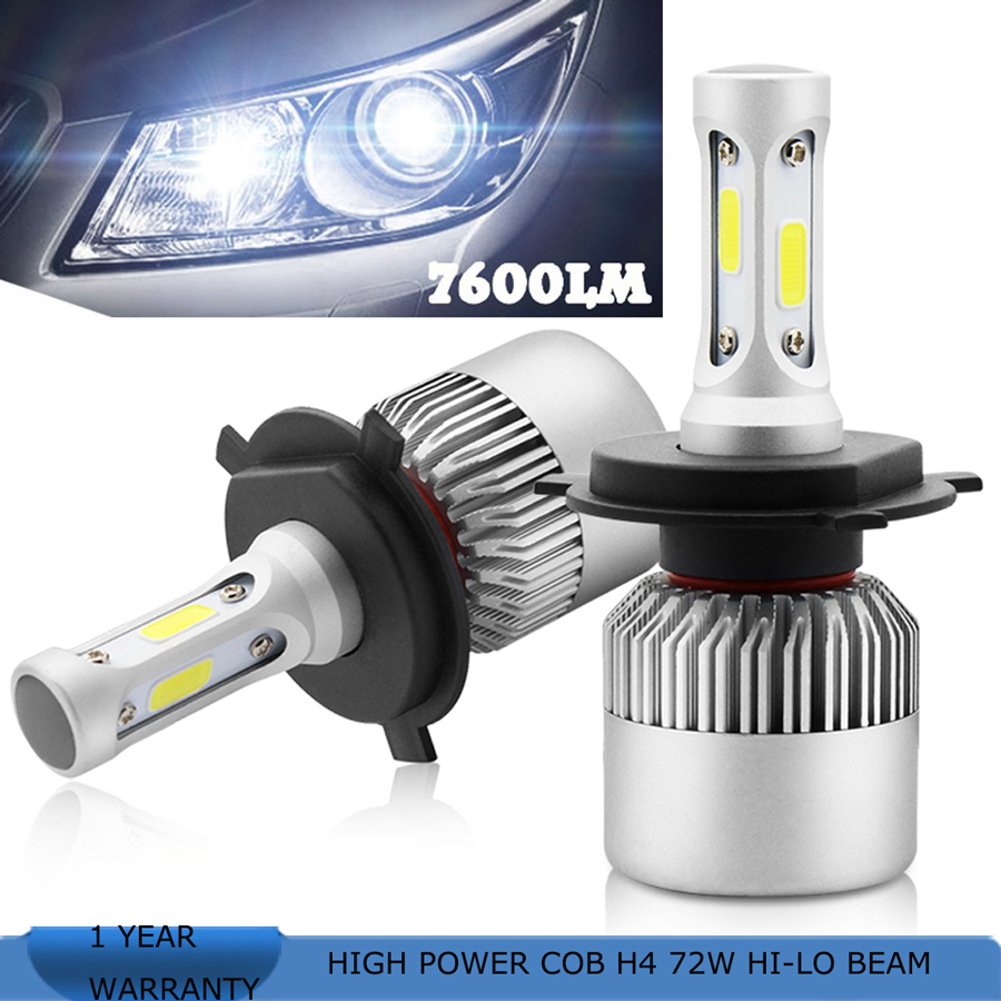 Playlamps H7 COB LED Car Headlight Bulb Kit 72W 8000lm Auto Front Light H7 Fog Light Bulbs 6000K 12V Led Automotive Headlamp  geetans 80w 8000lm h7 880 h27 h8 h9 h11 hb3 hb4 led automotive headlamp cob car headlight bulb auto front fog light bulbs 6000k