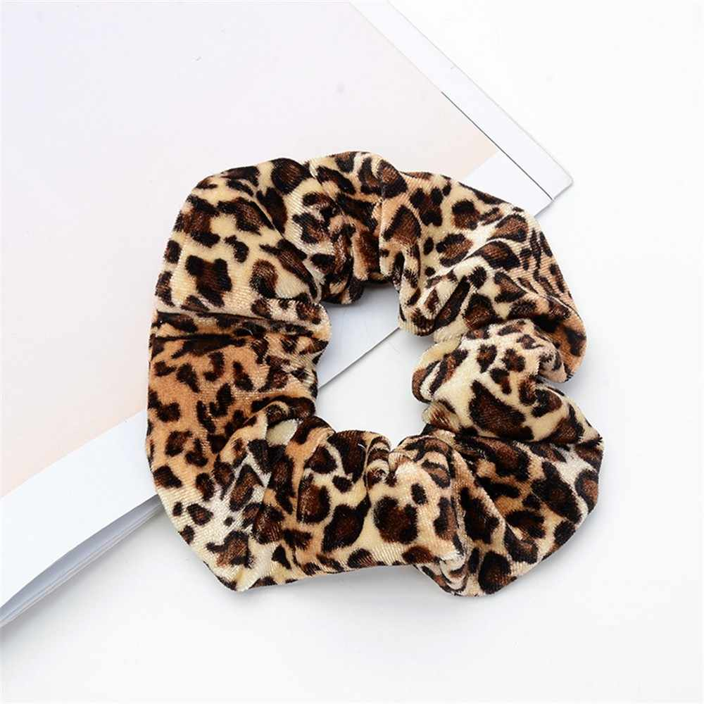 Women Faux Leather Elastic Hair Ties Girls Hairband Rope Ponytail Holder Scrunchie Gold Black Headbands Accessories 2019
