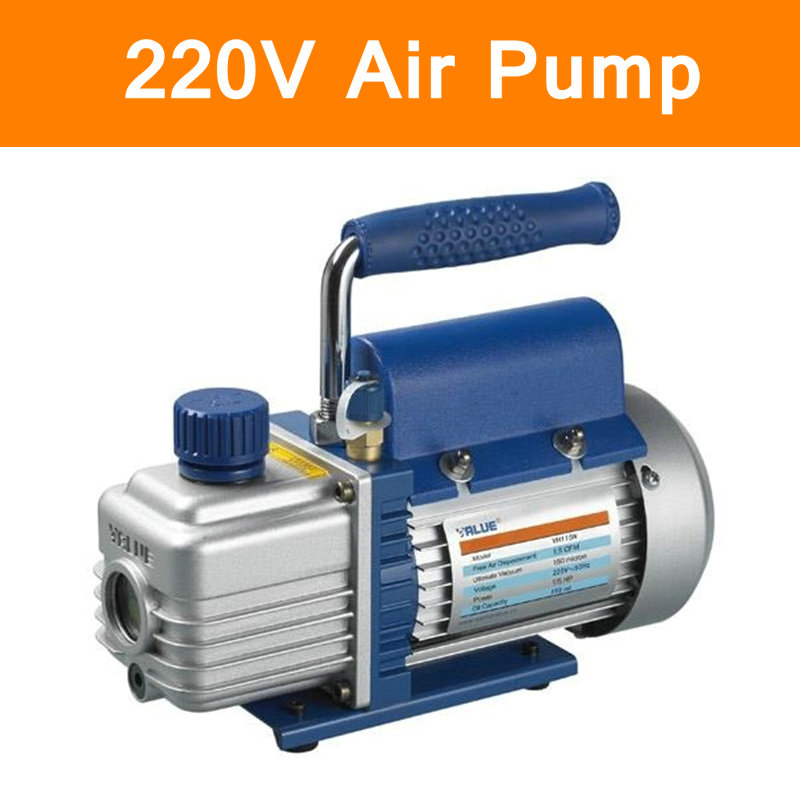 Original Mini Portable Air Vacuum Pump 1L 220V Ultimate Vacuum for Laminating Machine Air Condition Rotary Vane Single Stage tw 4a single stage 4 l rotary vane type portable vacuum pump with a single stage