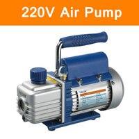 Original Mini Portable Air Vacuum Pump 1L 220V Ultimate Vacuum for Laminating Machine Air Condition Rotary Vane Single Stage