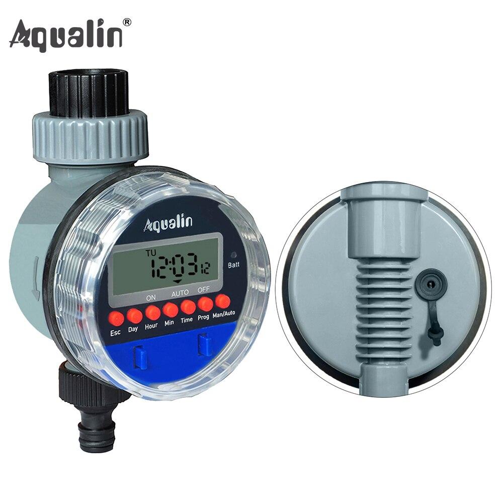 Válvula de pelota electrónica automática temporizador de agua casa a prueba de agua riego de jardín controlador de riego con pantalla LCD