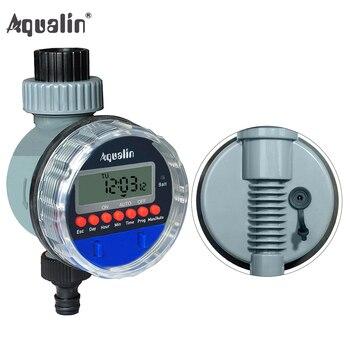 Válvula de pelota electrónica automática, temporizador de agua para el hogar, jardín a prueba de agua de riego de temporizador, controlador de riego con pantalla LCD