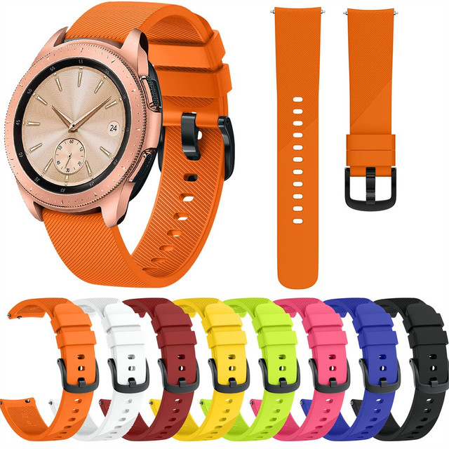 20MM Soft Silic Watch Strap Small Silicone Replacement Watch Band Wrist Strap Fo