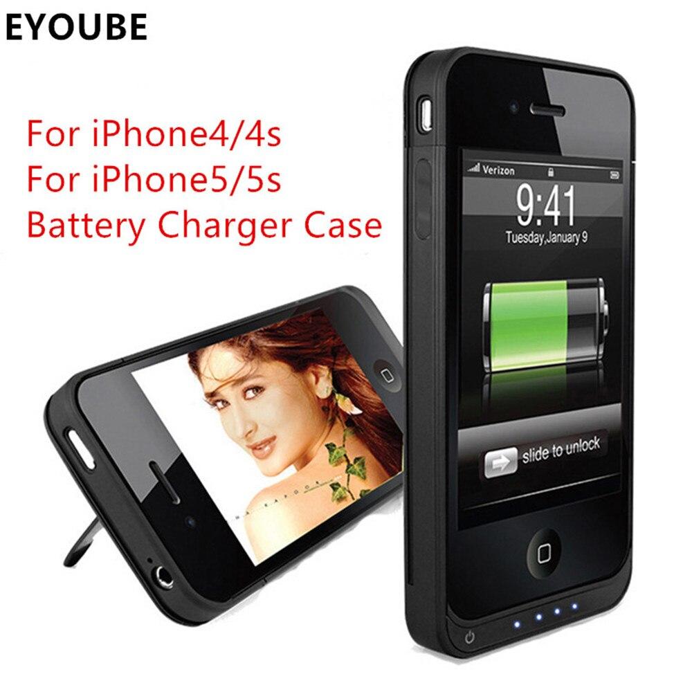 imágenes para Eyoube para iPhone4s 4 4000 mAh Recargable Cargador de Batería Externo de la Energía Bank Funda para Apple iPhone4 4S