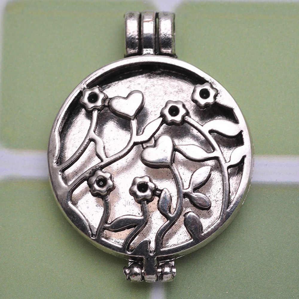 70cm Antique Kirsche Herz Anhänger Halskette Parfüm Aroma Halskette Ätherisches Öl Diffusor Halskette Foto Medaillon Halskette