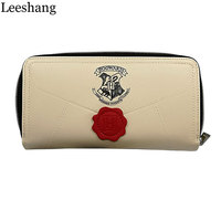 Leeshang Lady Harry Potter Letter Zip Wallet PU Long Women Wallets Fashion Clutch Female Purse Card