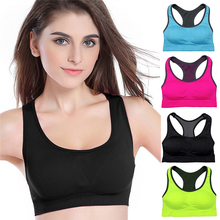 Women Sports Bra Tops Patchwork Bra for Fitness Running Gym Cross Straps Push Up Padded Stretch Bras Yoga bra Seamless gather
