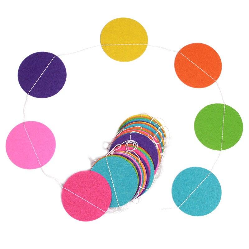 4 մ գունավոր կլոր քարտեր Թղթե - Տոնական պարագաներ - Լուսանկար 4