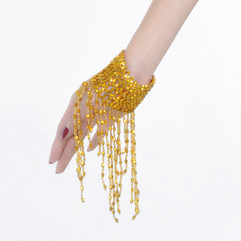 1 Pcs Light Weight Charming Belly Dance Bracelet Beaded Fringe Arm Chain Wrist For Venetian Party Belly Dancing