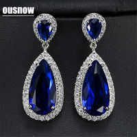 FashionJewelry 7 Colors Silver Color Drops Earrings From Swarovski Crystals For Women Fine Dangle Earrings With