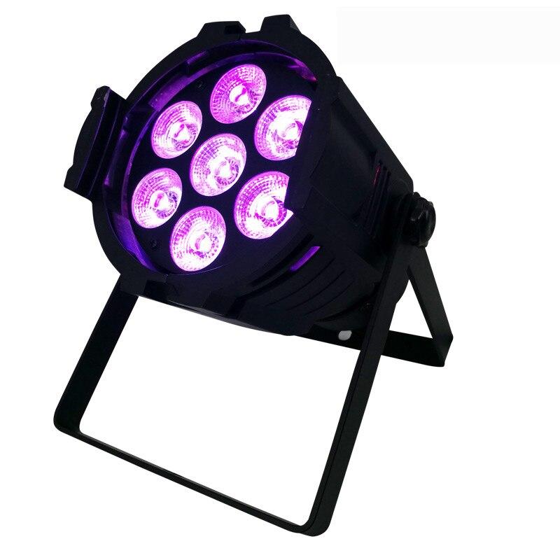 LED Par peut 7x12W alliage d'aluminium LED Par RGBW 4in1 DMX512 lavage dj scène lumière disco fête lumière Dj éclairage