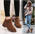 Women's Martin boots Nubuck Leather fashion Life Style Flat Ankle Boots 3 Color Ladies Casual Shoes