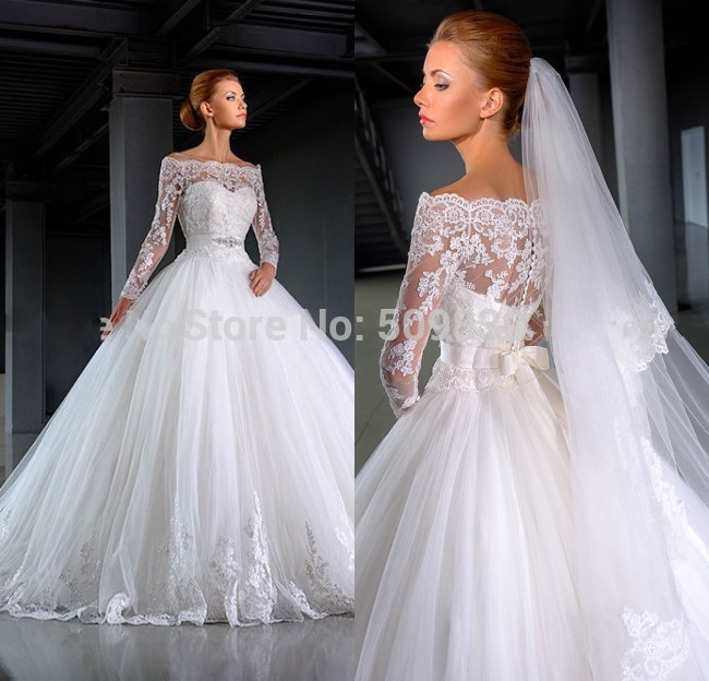 Aliexpress Nw28 Vestido De Noiva 2016 Lace Lique Ball Gown Wedding Long Sleeve Elegant With Veil Robe Mariage Bridal From