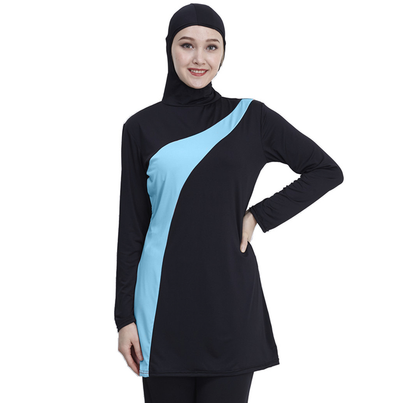 3XL Long Sleeve Muslim Swimsuit Plus Size Swimwear Women Muslim Swimwear Nylon Burkini Swimming Maillot De Bain Femme Musulmane