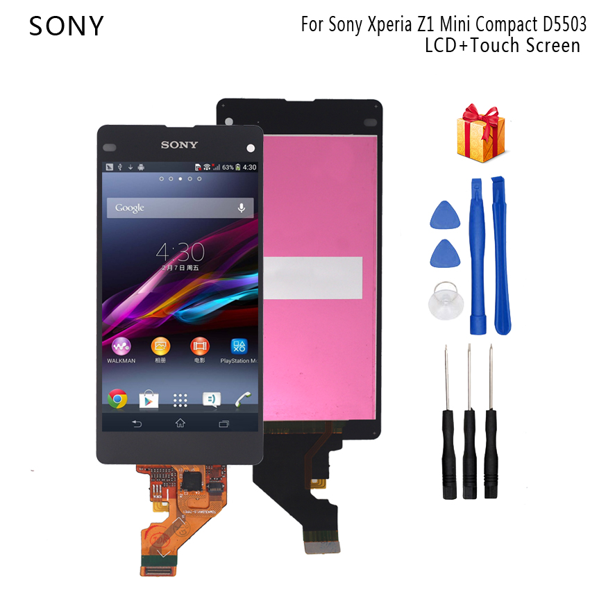 Original 4.<font><b>3</b></font>'' LCD for <font><b>SONY</b></font> Xperia Z1 Compact Display Touch Screen Digiziter For <font><b>SONY</b></font> Xperia Z1 mini Display D5503 M51W LCD image