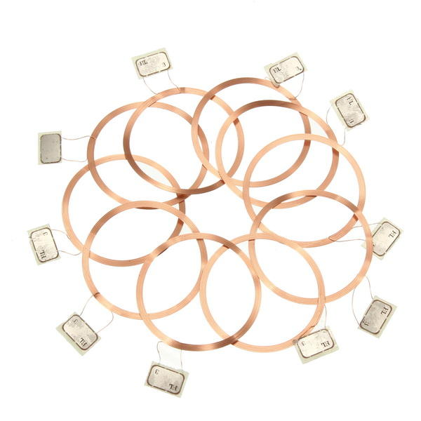 10Pcs NFC Coil UID Changeable RFID Card with Block Writeable Chip for MF1 1K S50 13.56Mhz-in Access Control Cards from Security & Protection
