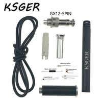 KSGER, T12-9501, aleación de Metal, 9501, mango de hierro para soldar, DIY, Kits para STC/ STM32 OLED 951, MINI 942/941, estación, mango, piezas de repuesto