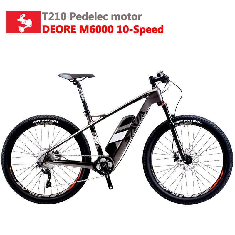 Электрический велосипед SAVA для взрослых, 36 В, Электрический горный велосипед, ebike с SHIMANO Deore, 10 скоростей, 36 В, электрический велосипед