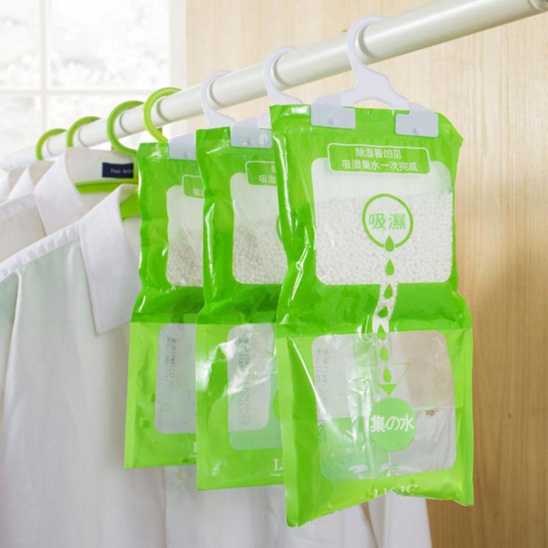 Moisture Absorbent Bag Hanging Wardrobe Closet Bathroom Dehumidizer Desiccant Bag Household Cleaning Tools
