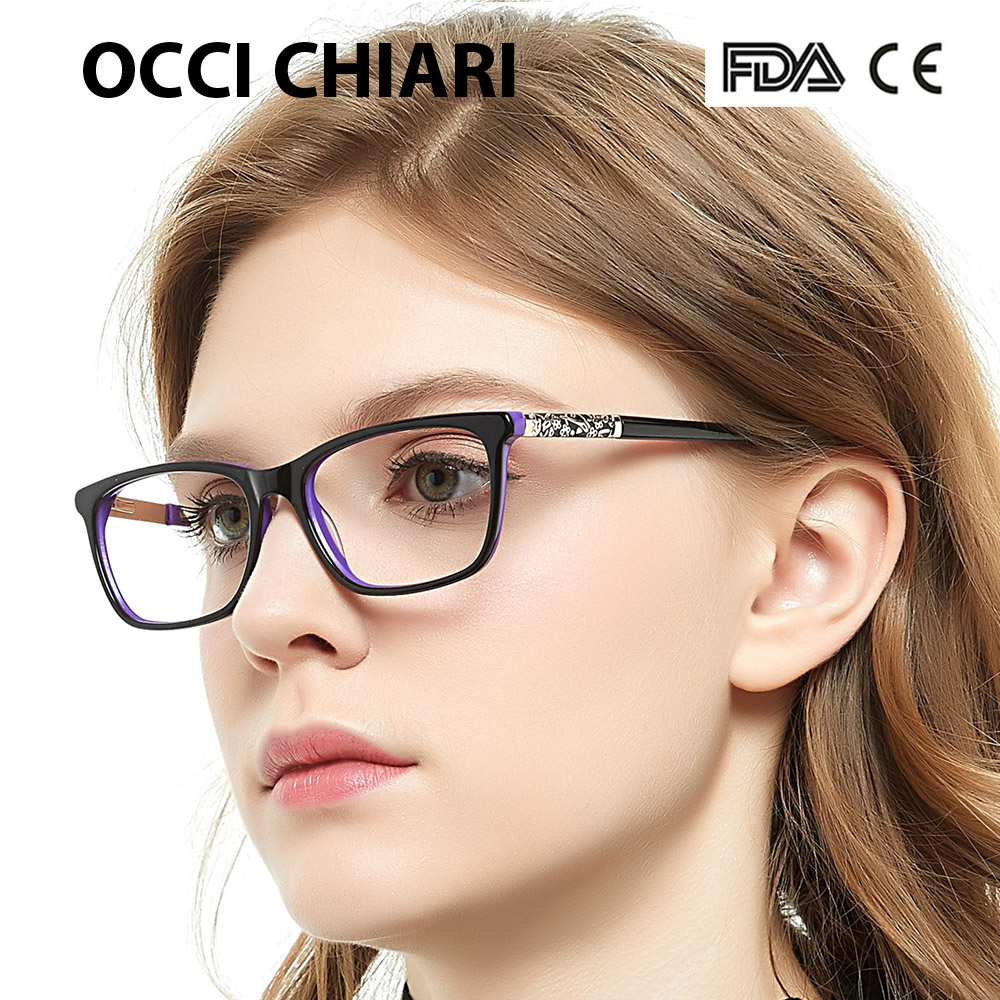 Image 3 - OCCI CHIARI Eye Glasses Frames For Women Designer Brand High Quality Retro Metal Medical Acetate Vintage Eyewear W CERIANA-in Women's Eyewear Frames from Apparel Accessories