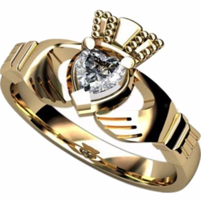 Claddagh Rings Stainless Steel Claddagh Ring Heart Wedding Engagement Anniversary 2