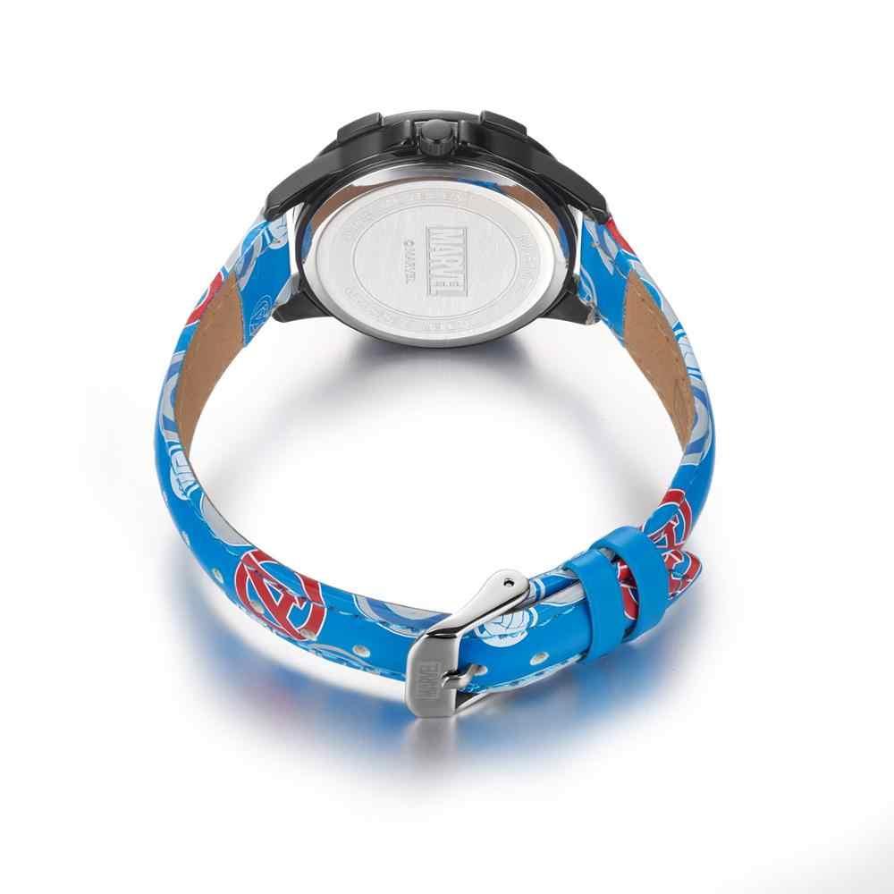 דיסני הרשמי המקורי החדש מארוול נוקמי קפטן אמריקה פגז איש עכביש ילדים בני בנות קוורץ שעון מתנה לילדים mv81070