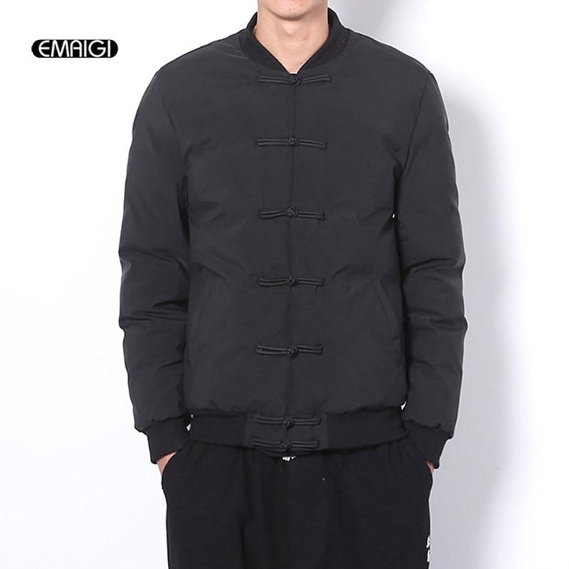 Men Winter Thicken Cotton Jacket Overcoat Male Fashion Casual Parkas Jacket Padded Outerwear Coat цены онлайн