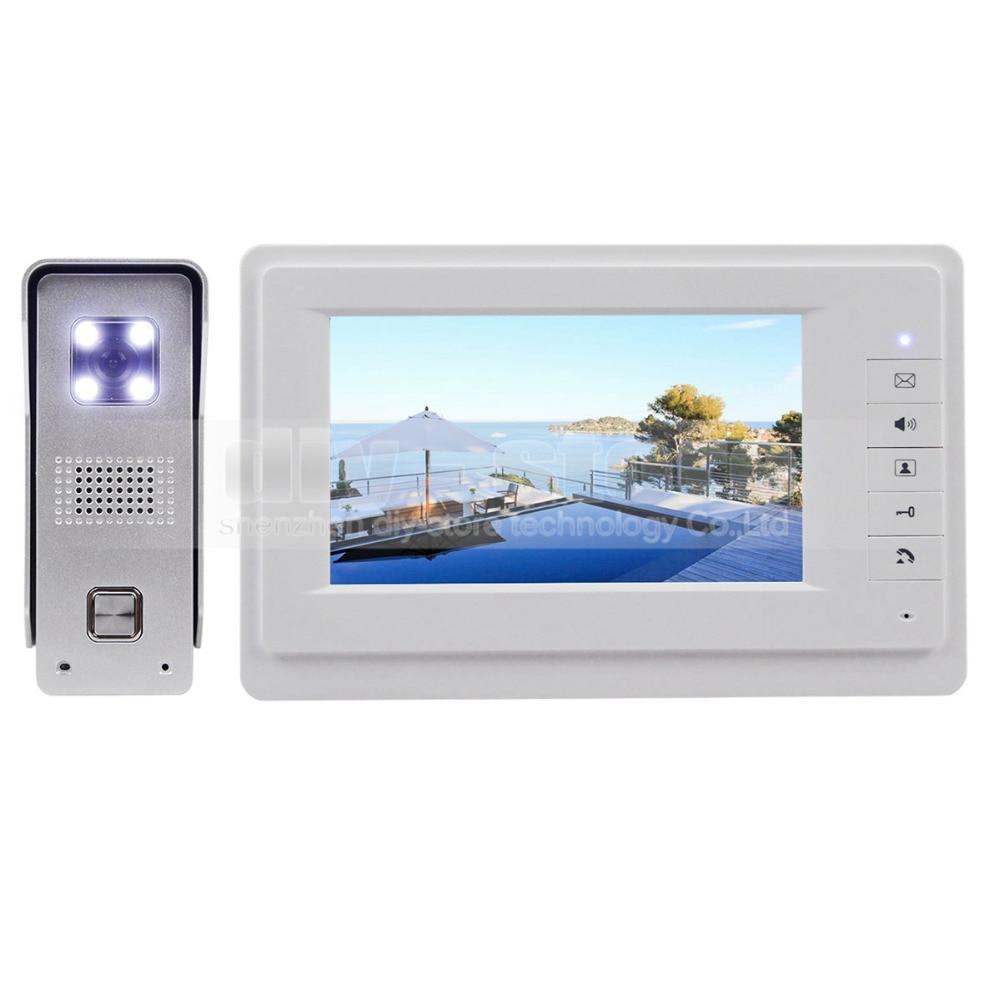 "DIYSECUR 7"" Wired Video Doorbell Intercom Home Security 700TVL Camera Fashionable Monitor New"