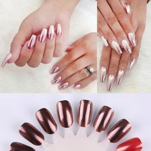 Image 2 - Nail Art 1PC  Powder Art Decoration Sexy Rose Gold Mirror Chrome  Nail Art Accessories 2018 Oct12