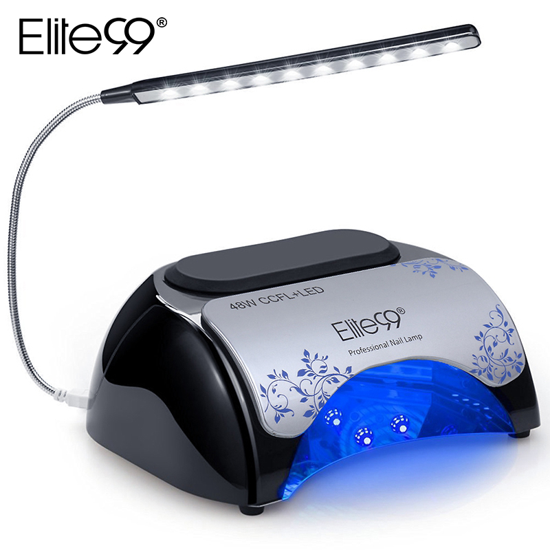 Elite99 CCFL A LED 48 w Lampada Del Chiodo 30 s/60 s Timer Tubo Della Lampada Sensore Automatico Essiccatore Del Chiodo Per la cura Delle Unghie Gel Smalto Unghie artistiche Strumento
