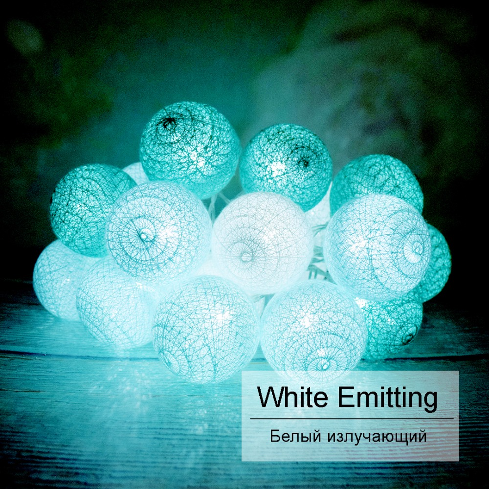 Luces de vacaciones Led Light String Tiffany Color 5CM Ball 120CM - Iluminación de vacaciones - foto 6