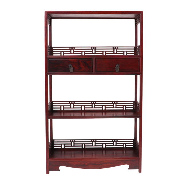 1 6 Scale Dolls House Miniature Rosewood Bookshelf Model Furniture Toy For 12