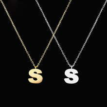 цена на GORGEOUS TALE Letter Design S T U V W X Y Z Style Silver Gold plated Stainless Steel Necklaces Pendants Fashion Women Jewelry