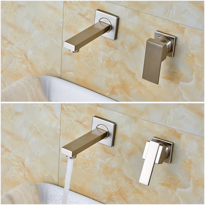 ФОТО Wholesale and Retail Bathroom Basin Sink Mixer Faucet with Single Handle Brushed