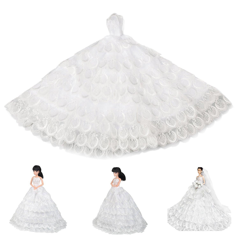 Saleaman precioso vestido de novia hecho a medida para la muñeca - Muñecas y accesorios - foto 6