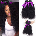 DHL/FedEx Fast Delivery Kinky Curly 100% Human Hair Unprocessed Indian Virgin Hair 4pcs*100g(+/-5g)/piece 7A Grade Quality #1b