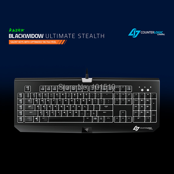580878a2cd4 EMS Freee shipping Razer Blackwidow Ultimate Stealth CLG Keyboard with  White Backlit with Retail Box, Fast Shipping in stock.