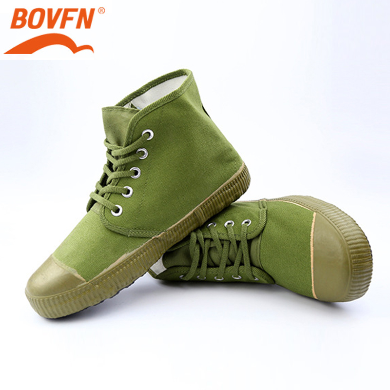 Hot Sales Army Green Man High-top Non Slip Safety Canvas Shoes Wear-resistant Rubber Farmland Worker Military Industrial Boots
