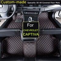Для Chevrolet Captiva 5/7 мест автомобиля Коврики стайлинга автомобилей ноги ковры пользовательских для Chevy Camaro Cruze Паруса malibu