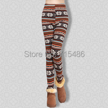 Warm leggings for Women Free Shipping Women Warm Pants Cashmere Snow Trousers Galaxy Leggings Winter