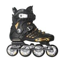 Japy Skate Tian-E Inline Skates Black Golden Professional Slalom Inline Skates Roller Free Skating Shoes Sliding Patines