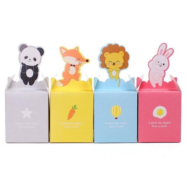 10Pcs/lot Cartoon Animal Paper Bag Candy Box Rabbit/Lion