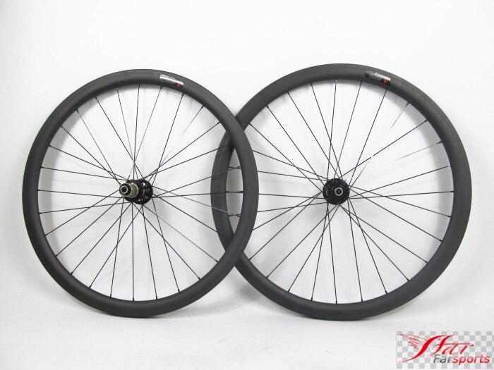 Far sports FSC38 TM 25 Novatec 38mm 25mm carbon disc wheelset tubular 38mm, XC cycling disc brake QR axle wheelset