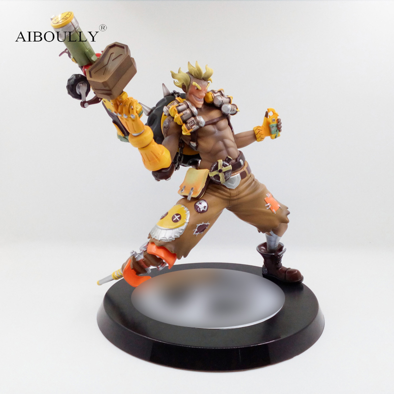 Love Thank You OW game watch JunkRat JAMISON FAWKES 28cm PVC Anime figure toy Model gift
