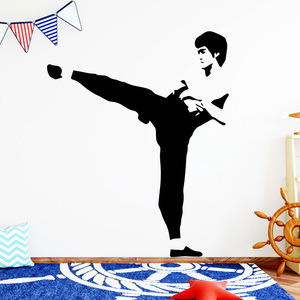 Luxuriant Bruce Lee Wallstickers For Boys Bedroom Decals Decal Mural(China)
