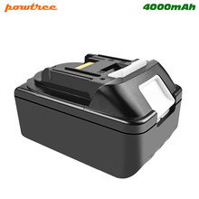 Powtree For Makita BL1830 18V 4000mAh Lithium Power tools battery replacement BL1815 BL1840 LXT400 194204-5 194205-3 194309-1 цена и фото
