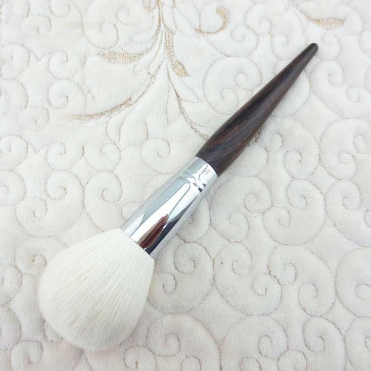 G021 Professional Makeup Brush Soft Goat Hair Ebony Handle Make Up Brushes Cosmetic Tool Single Face Powder Brush professional bullet style cosmetic make up foundation soft brush golden white