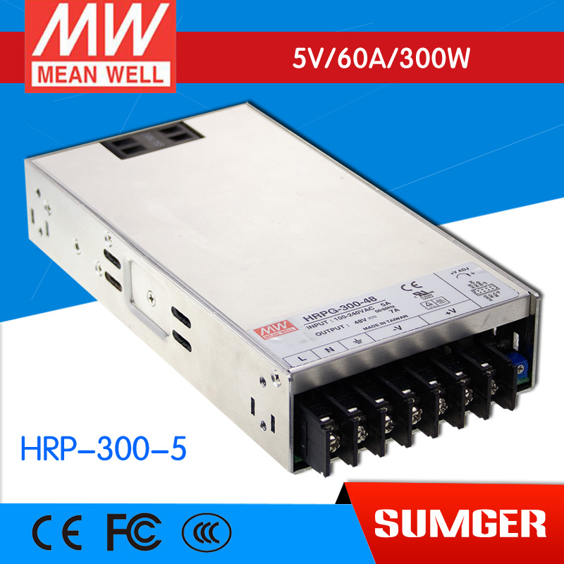 все цены на 1MEAN WELL original HRP-300-5 5V 60A meanwell HRP-300 5V 300W Single Output with PFC Function  Power Supply онлайн