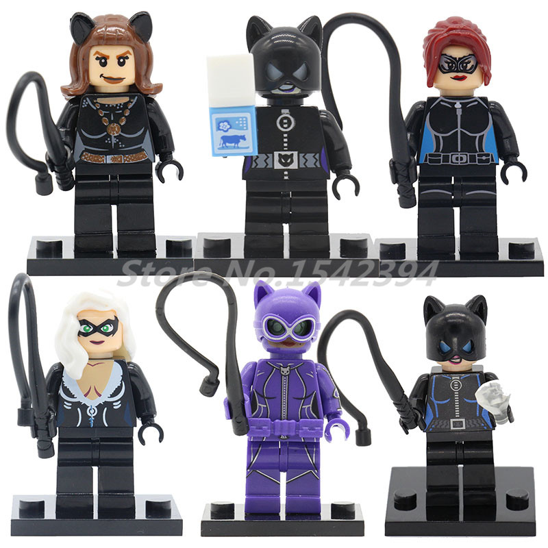 Single Sale Cat Woman Marvel Super Hero Building Block Bricks Batman Movie Catwoman Toys For Children Kids Gifts Joker Figure футболка diesel 00s01m 0wady 8lq